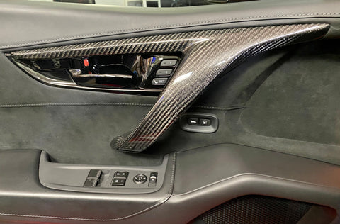 2017-2020 NSX 100% Carbon Fiber Interior Door Handles Replacement