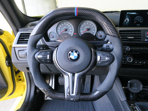 BMW Carbon Fiber Flat Bottom F8x M2/M3/M4 Steering Wheel (fits 2015-2017)
