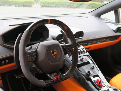 Lamborghini Huracan OEM Carbon Fiber Upgraded Sport Steering Wheel