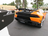 Lamborghini Huracan MAD Dry Carbon Rear Double Wing with Carbon Base