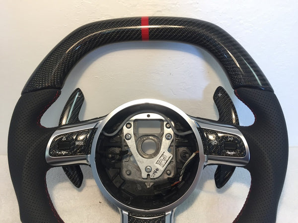 Audi R8 Carbon Fiber Extended Paddle Shifters Pair