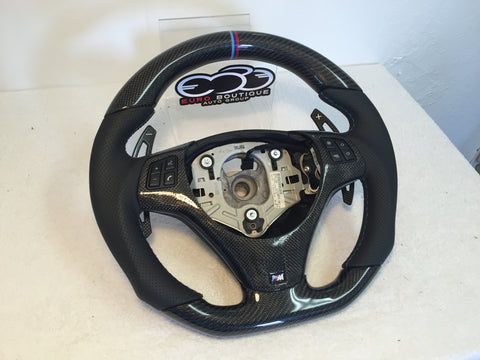 BMW Carbon Fiber Flat Bottom E9x M3 Steering Wheel (fits 2008-2013)