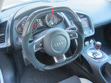 Audi R8 Carbon Fiber Flat Bottom Steering Wheel