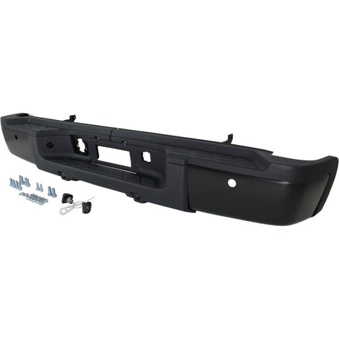 OEM Replacement Rear Bumper (With parking aid sensor holes) for Chevrolet Silverado, GMC Sierra