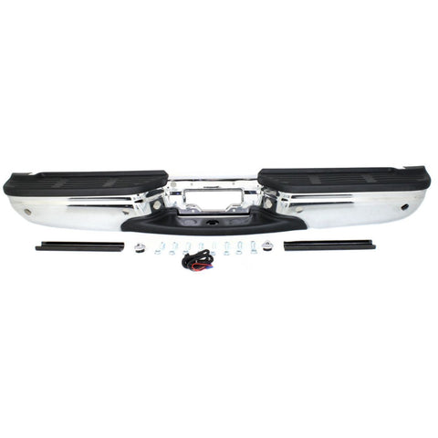 OEM Replacement Rear Bumper (With license plate provision) for Ford Super Duty 250, 350, 450, 550.