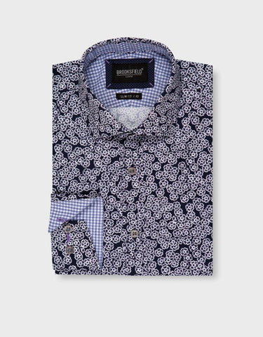 BROOKSFIELD LUXE FLOWER PRINT SHIRT