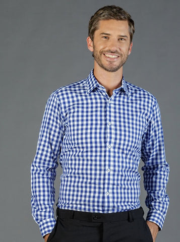 Gloweave 1710L Royal Oxford Gingham Long Sleeve Shirt