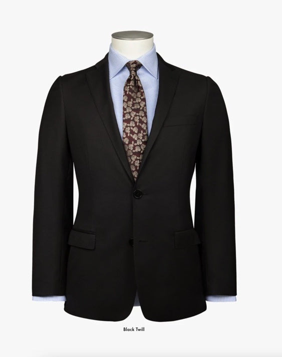 Rembrandt Suit Separates Black Twill Jacket
