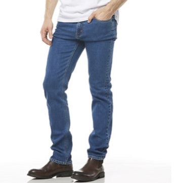 RIDERS BY LEE STRAIGHT SLIM STONEWASH  STRETCH JEANS