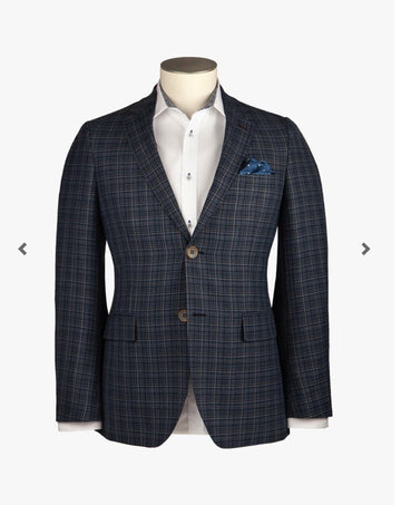 Rembrandt Navy Check Sports Jacket