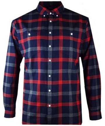 Espionage Brushed Check Shirt Navy/Red