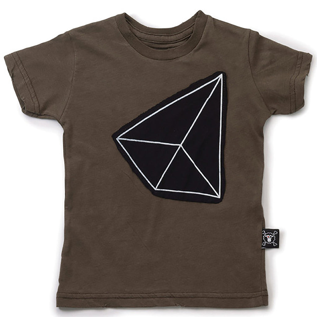 Geometric Patch Tee - Olive