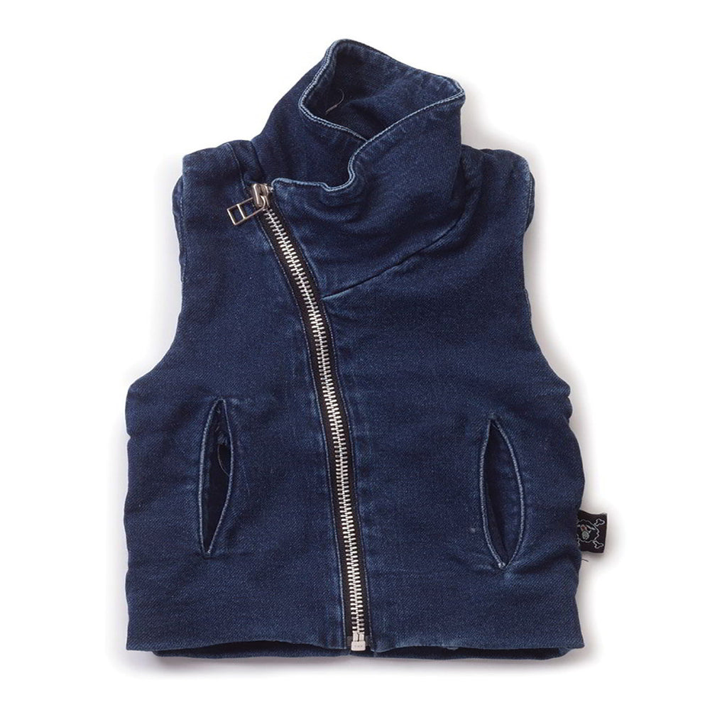 Denim French Vest