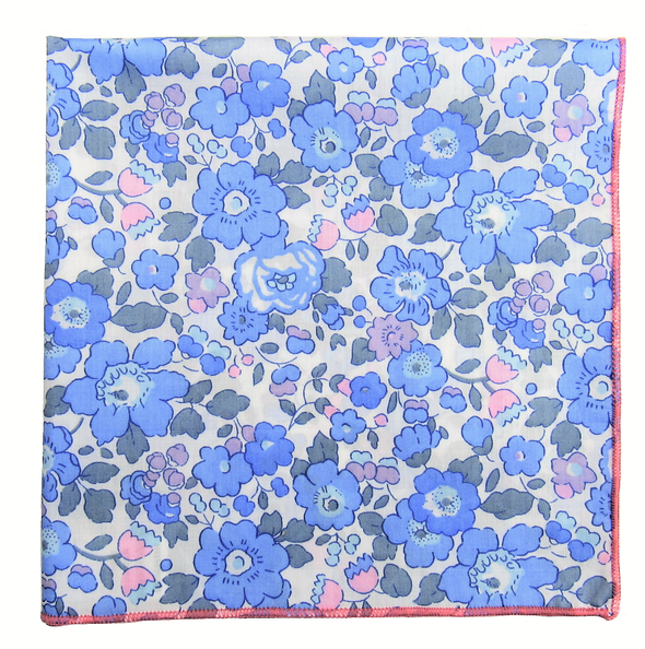 Bloomin' Blue Pocket Square