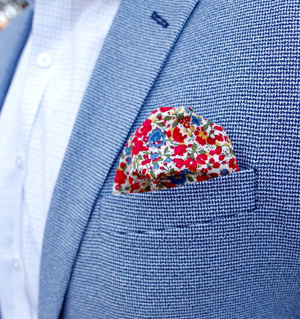 American Floral Pocket Square