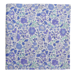 Periwinkle Petals Pocket Square