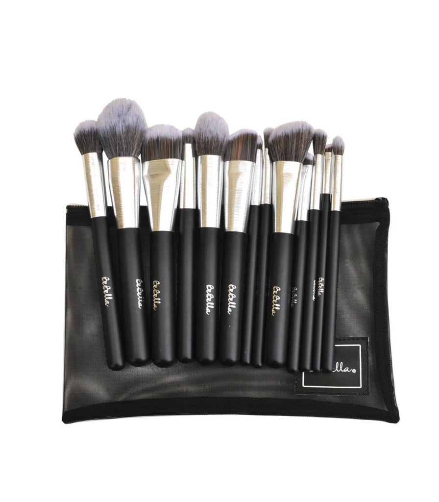 BEBELLA ALL YOU NEED 13PCS SILVER  BRUSH SET