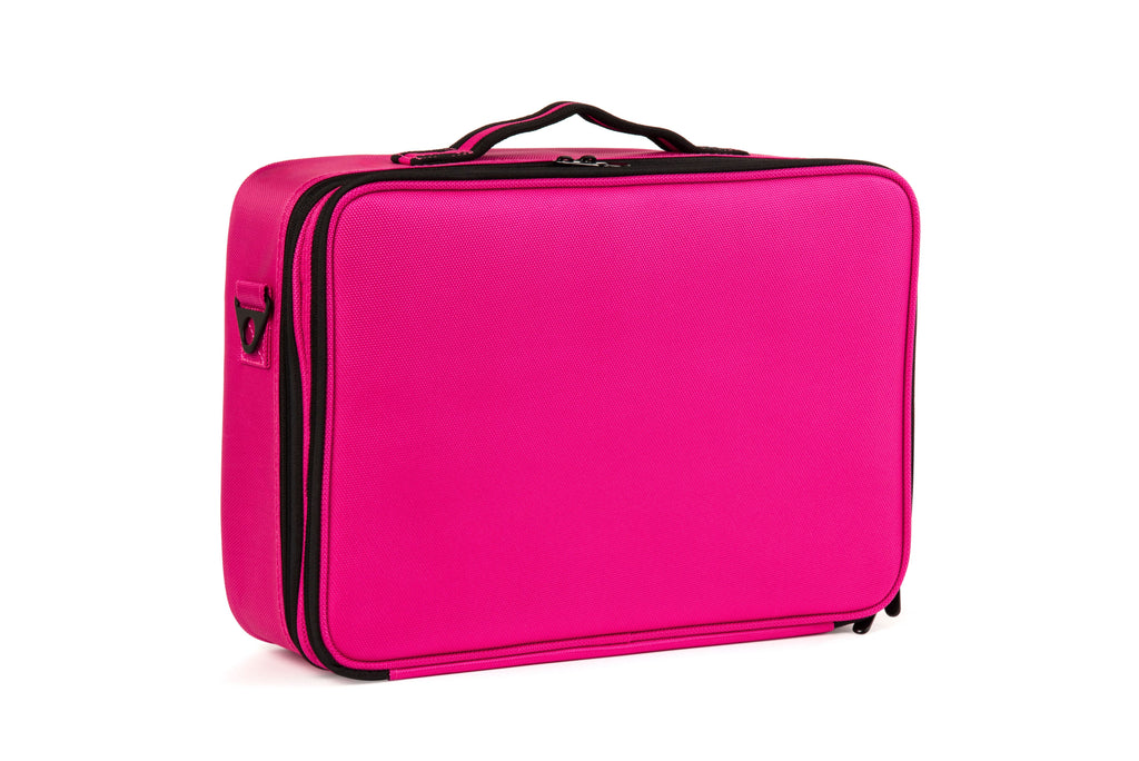 HOT PINK MAKEUP ORGANIZER BAG