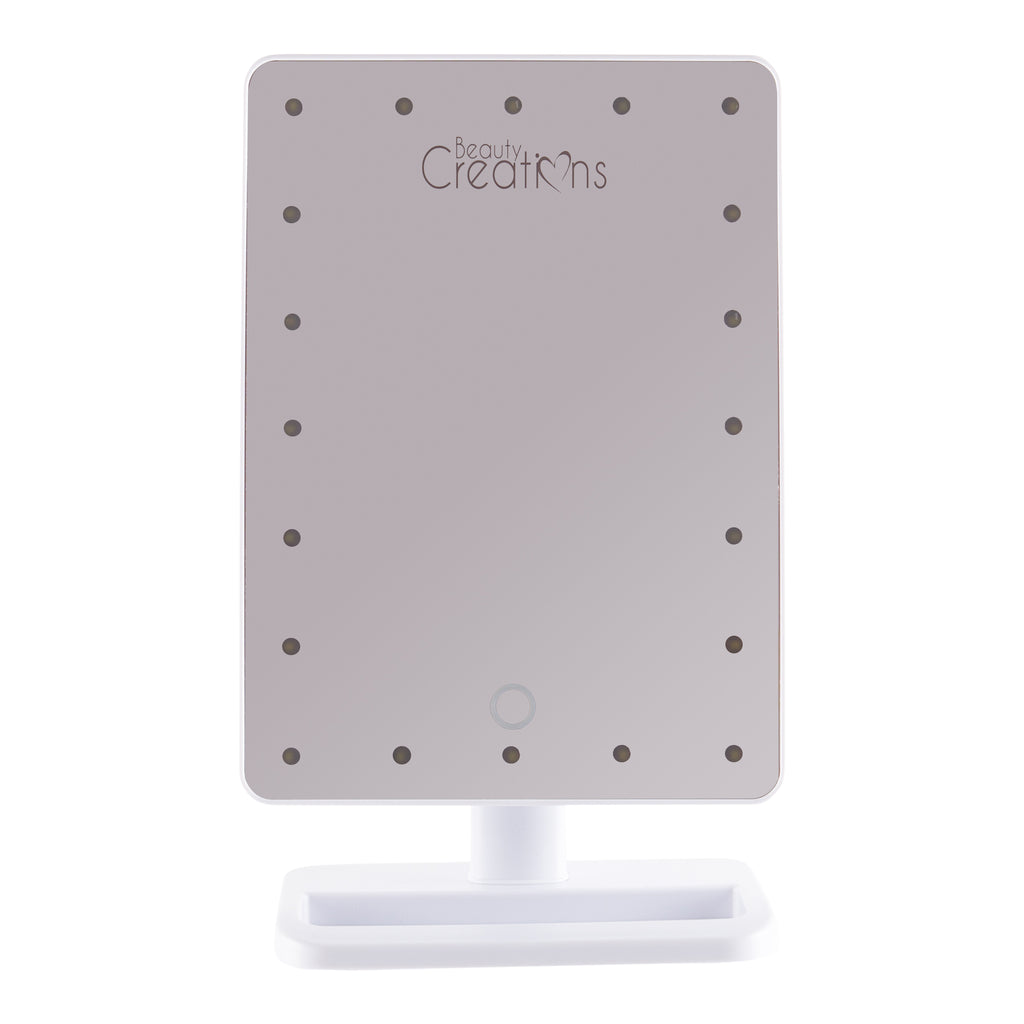 20 LED Touch Small Mirror - White