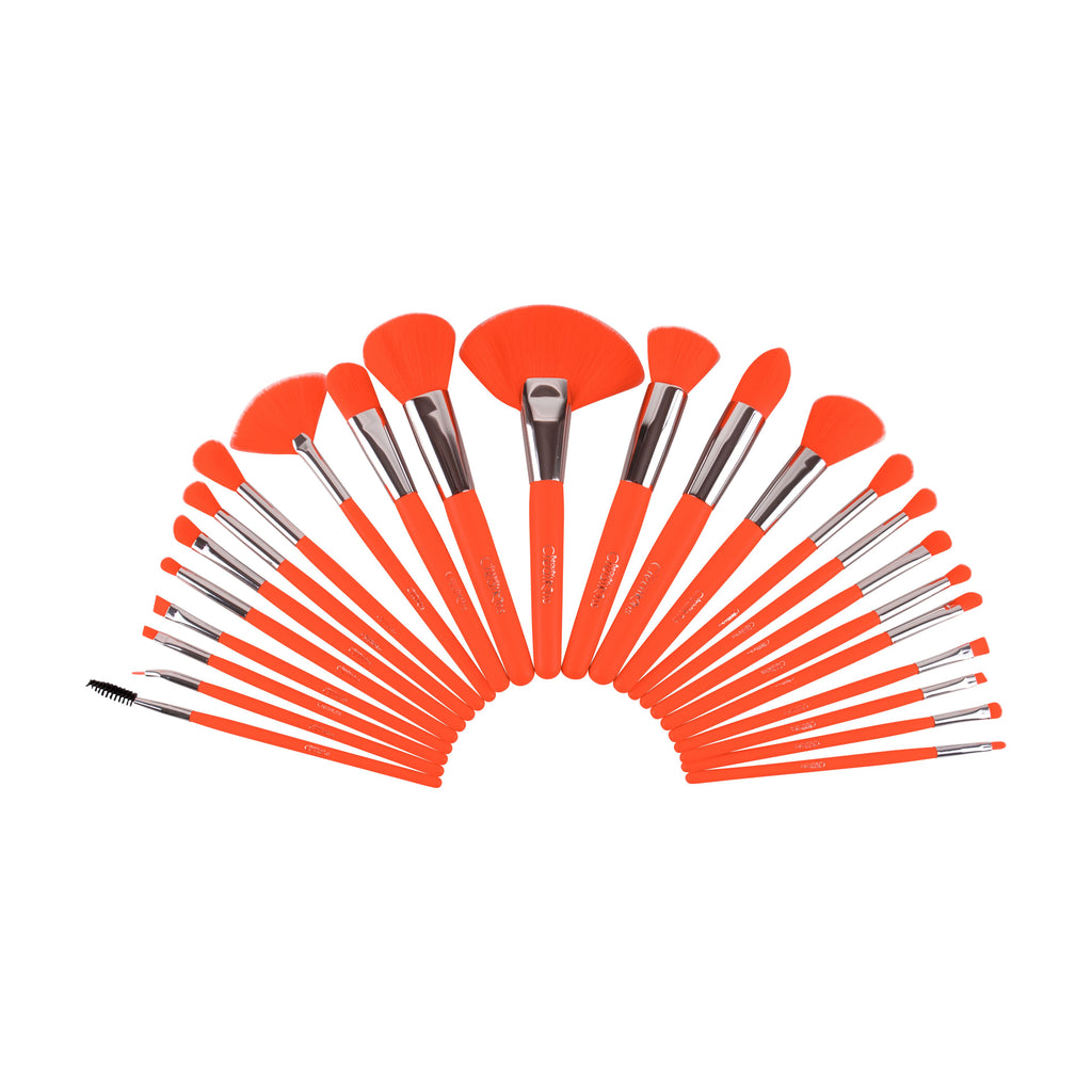 The Neon Orange 24 pc Brush Set