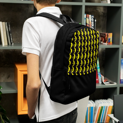 Yellow Crescent Moon Backpack
