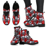 Poison Love Skulls Women's Leather Boots