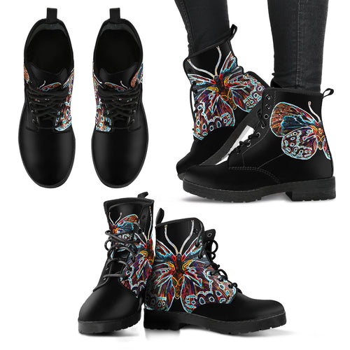 Electric Butterfly - Women's Leather Boots