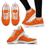 ORANGE  Scatter Open Road Girl Women's Sneakers with White Soles