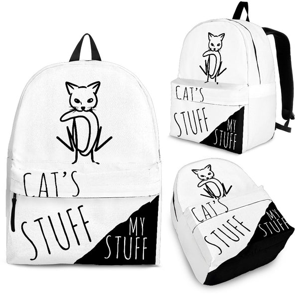 Backpack - Cat's Stuff | My Stuff 2 - White