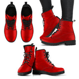 Cherry Red Women's Leather Boots