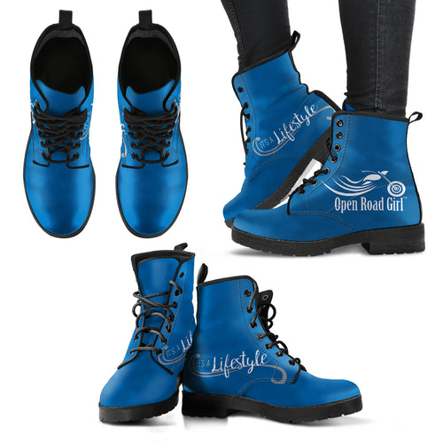 BLUE It's a Lifestyle Open Road Girl Women's Leather Boots