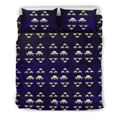 Space Force Alien Invasion Bedding Set