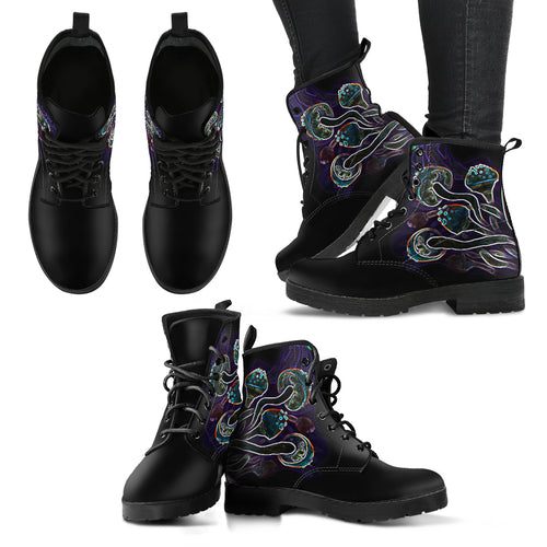 Glowing Shrooms Women's Leather Boots