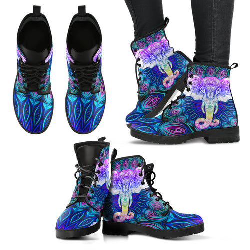 Purple elephant boots