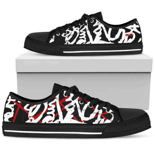 Men's AMBRO Blacklisted Red Shocked Black Low Tops