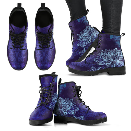 Music Notes Women's Leather Boots