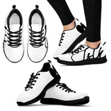 Ladies Black Script Women's Sneakers