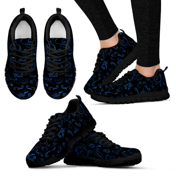BLUE/BLACK Scatter Open Road Girl Women's Sneakers