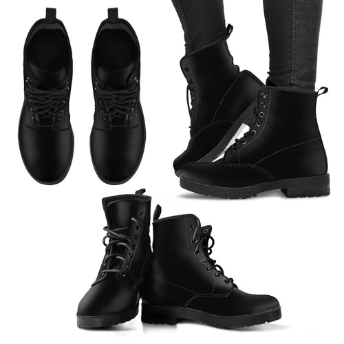 Classic Black Women's Leather Boots
