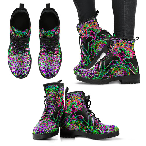 Electric Gate of knowledge - Women's Leather Boots