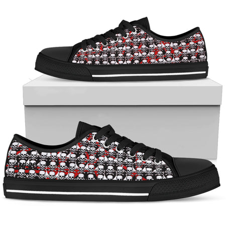Men's Blacklisted Black & White AMBRO Print Low Tops
