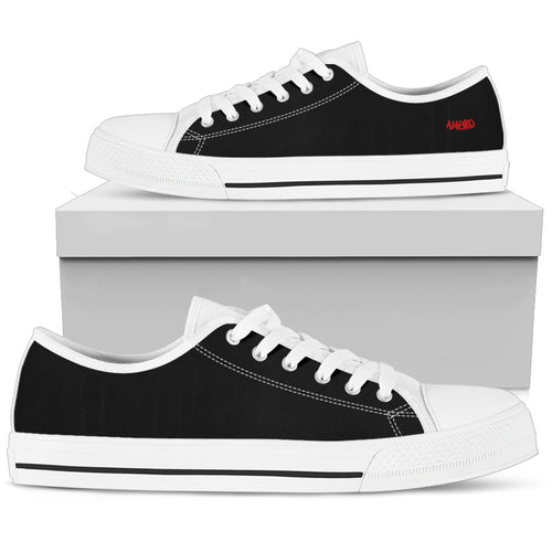 Womens Classic Black Low Tops