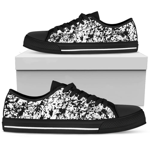 Womens Noir Film Static AMBRO Print Low Tops
