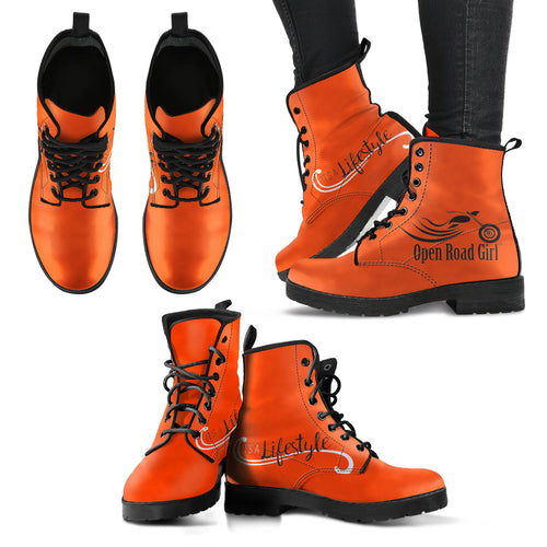 ORANGE It's a Lifestyle Open Road Girl Women's Leather Boots
