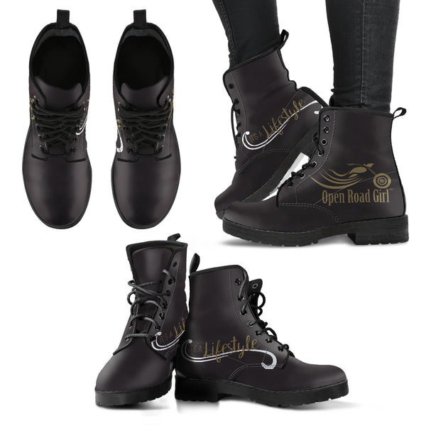 Gold It's a Lifestyle Open Road Girl Women's Leather Boots