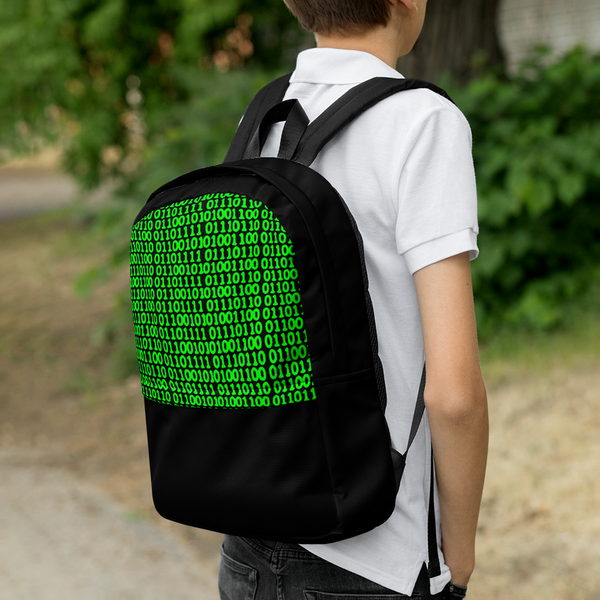 Digit Head Green Backpack