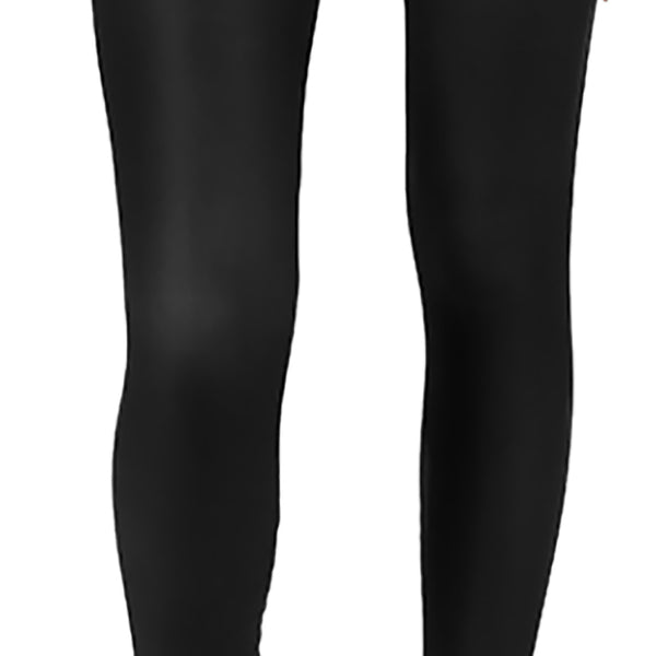 Classic Black AMBRO Print Smooth & Silky Leggings