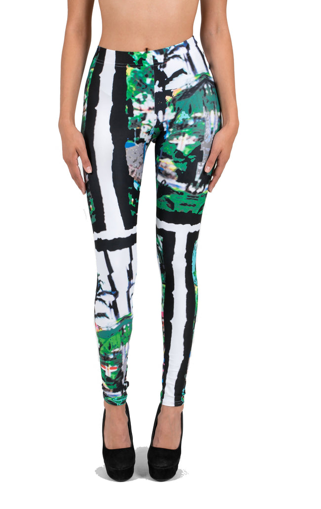 Tropical Palm Tree Abstract AMBRO Print Smooth & Silky Leggings