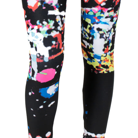 "Noir Film Static AMBRO Print ""Kathy"" Smooth & Silky Leggings"