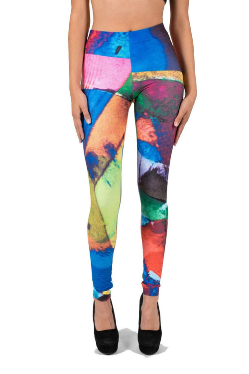 Stained Glass AMBRO Print Leggings
